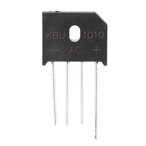 KBU1010 Puente Rectificador de Puente Diodo de Plomo 1000V 10A Puente de Diodo Para Circuitos Electrónicos/Electrodomésticos(5 piezas)