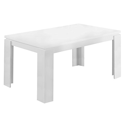 Monarch Specialties , Dining Table, White Hollow-Core, 60'L