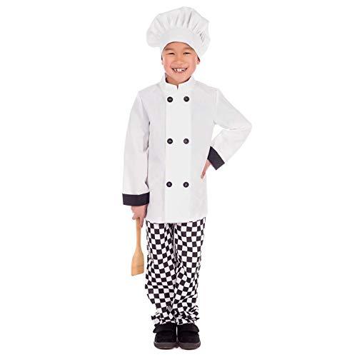 Fun Shack Blanco Chef Disfraz para Niños y Niñas - L
