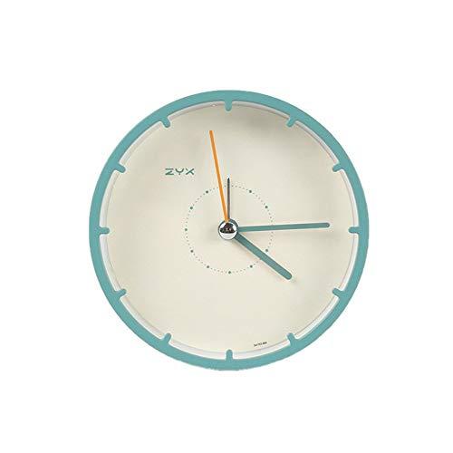 QLKJ wekker, compacte 4 inch persoonlijkheid, decoratie, eenvoudige nacht stum, kleine wekker, mini-student, met groen