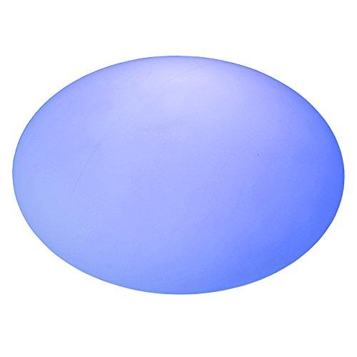 LED Boule à plat lumineuse Ø 40 cm H 20 cm multicolore RGB 16 couleurs sans câble avec accumulateur et télécommande Etanche et flottant IP65 Extérieur lampe mood ball decoration Luminaire