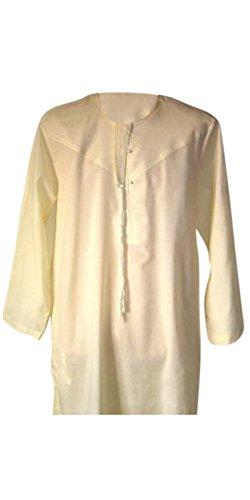 Desert Dress - Tunique Marocaine Homme Thobe Emirats Arabes Oman Dishdasha Désert Arabe Afghane Saoudienne - 72, Crème