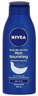 Nivea Rich Nourishing Body Moisturiser Lotion For Dry Skin 400 mL with Free Ayur Soap