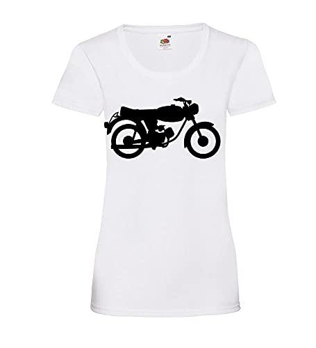 Shirt84.de Tomos 15 SLC - Camiseta para mujer, Blanco, XS