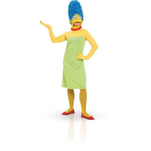 Rubies 3 880654 - Costume per travestimento da Marge Simpson, per adulti, Taglia: L, colore: Verde/Giallo