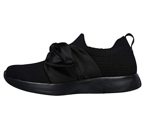 Skechers BOBS Damen Sneaker Squad 2 Bow Beauty Schwarz, Schuhgröße:EUR 41