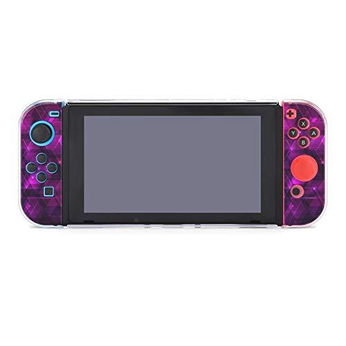 Schutzhülle für Nintendo Switch, lila abstrakter Techno-Hintergrund mit Sechsecken, strapazierfähige Schutzhülle für Nintendo Switch und Joy Con