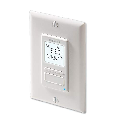 Honeywell Home RPLS740B1008 Econoswitch 7-Day Programmable Light Switch Timer