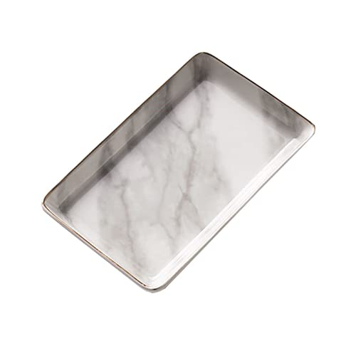 Joyería de la placa de la serie de mármol Luz de lujo Luz de lujo de lujo Plato de almacenamiento