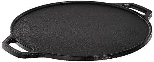 Amazon Brand - Solimo Pre-Seasoned Cast Iron Dosa Tawa, 12 Inches (30 cm)