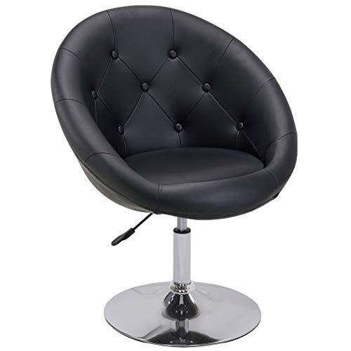Duhome Sessel Schwarz höhenverstellbar Kunstleder Clubsessel Coctailsessel Loungesessel - Typ 509A