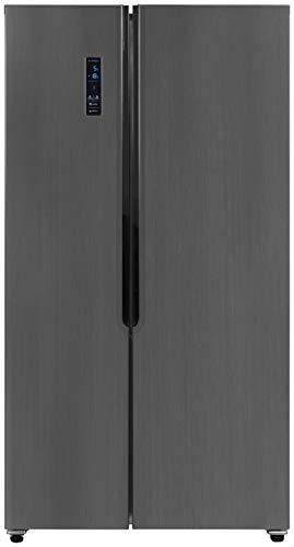 Exquisit Side by Side Kühlschrank SBS 110-4X A+ | No Frost | 521 Liter | Inox-Dunkel