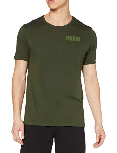 PUMA Modern Basics Tee T-Shirt Homme Forest Night FR : M (Taille Fabricant : M)