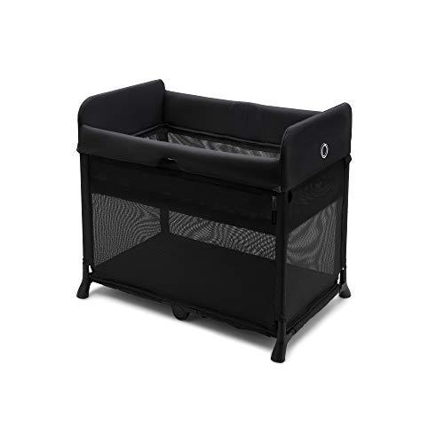 Bugaboo Stardust - multifunktionales Reisebett für Babies und Kleinkinder, in nur Einer Sekunde aufgestellt, mit gemütlicher Matratze und einsetzbarem Reißverschlussbett für Neugeborene, schwarz