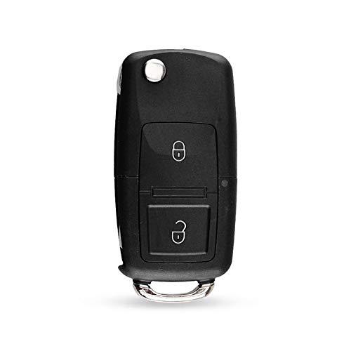 Qinglan ZHJHUA 2 Botones Flip Remote Car Key Fob Fob Foy para Volkswagen VW Ajuste para Golf 4 5 Fit for Passat B5 B6 Fit para Polo Fit para Touran 434MHz ID48 Chip 1J0 959 753 AG