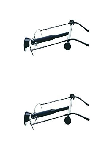 B&K Wand-brilhouder Base Dubbelpak - brillen plaatsen - klaar! 2 brillenhouders – de praktische opbergmogelijkheid voor brildragers (zwart).