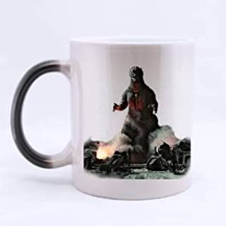 Special Morphing Mug - Design with Funny Quotes/picture godzilla Coffee/Tea 11oz Cups.Color and Face Changing Ceramic Black Mugs