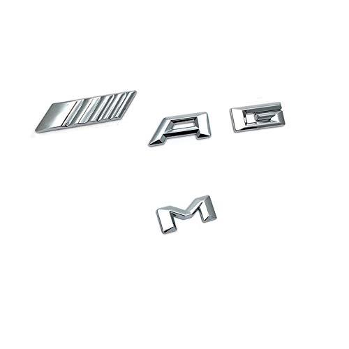 YIKA Original Size Car Logo Silver Badge Decal Emblem Car Sticker for AMG Sticker Rear Marker
