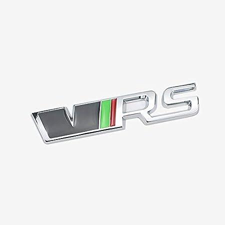 D28jd Vrs Logo Emblem Für Heckklappe Heckklappen Stamm Metallbuchstaben Aufkleber Für Skoda Silber Küche Haushalt