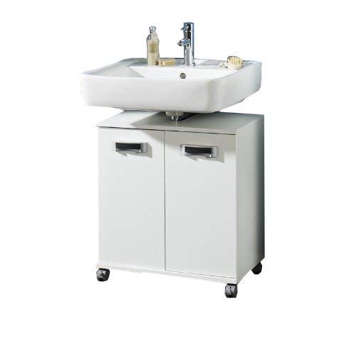 Schildmeyer Cadiz 119734 Waschbeckenunterschrank, 60 x 63,5 x 32,5 cm, weiß