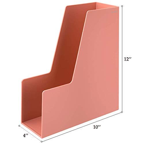 Lsmaa Magazine Datei-Halter-Organisator-Notizbuch-Ordner Bin Aufbewahrung, Deluxe-Magazine Rack, verkauft als 1 Stück, Büro- und Schulartikel-rot (Color : Red)