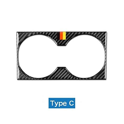Decoración Ajuste para Mercedes Benz GLS 16-18 GLE 15-17 GL 13-15 ml Accesorios Accesorios de fibra de carbono Interior del automóvil Tapa de la taza de la cubierta Pegatinas de ajuste Accesorios