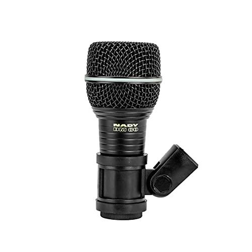Nady DM-80 Dynamic Neodymium Cardioid Drum Microphone, 30Hz-15KHz Frequency Response