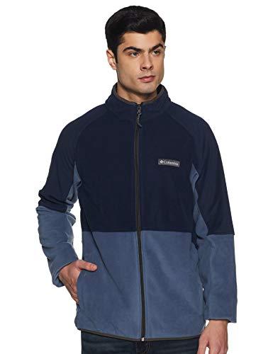 Columbia Men's Track Jacket (AM0233-478-S_Dark Mountain Heather_S)