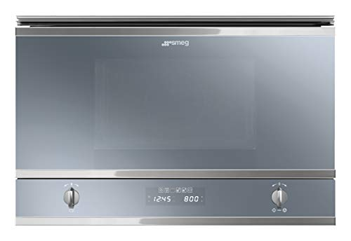 Smeg MP422S - Microondas (Integrado, Microondas con grill, 22 L, 950 W, Giratorio, Tocar, Acero inoxidable)