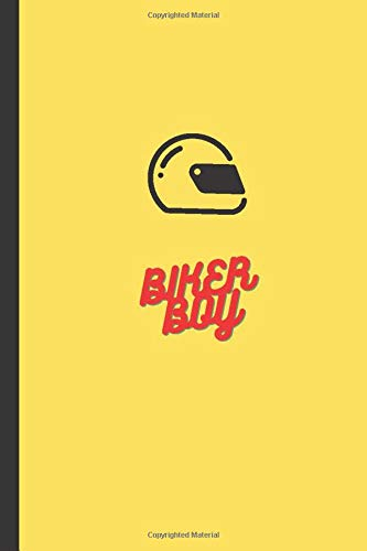 BIKER BOY Notebook: Motorbike, Motorcross, BMX, Jotter, Notepad, Lined, Blank, 120 Pages, 6x9'