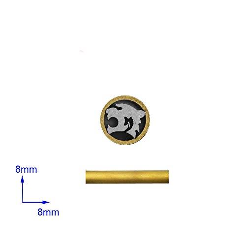 Mosaiknieten für Messergriff, Mosaikschraubennagel, Durchmesser 8 mm Jagdmesser, Verschlussstifte, Länge 4,5 cm (Tiger)