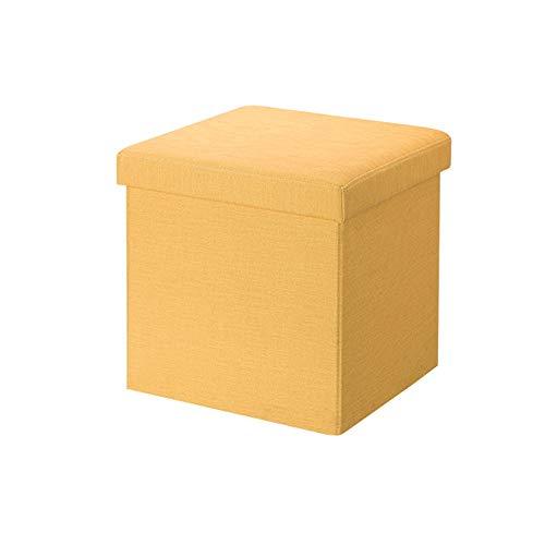 Kcakek Storage Kruk Multifunctionele Folding Kruk Stof plein Kruk Deur Shoe Kruk Opvouwbaar Stool voorzitter en Box Portable Picnic Seat ruimtebesparende Cubes Bedroom & Office Capacity