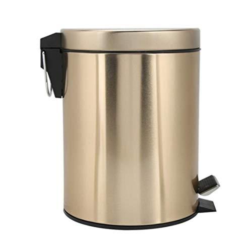 SMEJS Cubo de Basura del Acero Inoxidable del Cuarto de baño de la Cocina del Paso del hogar con la Tapa