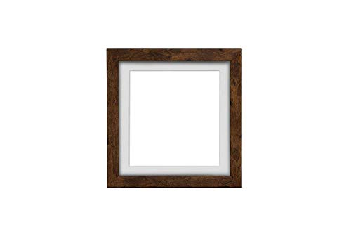 3D Deep Box Frame Range Bilder/Foto-/Poster-Rahmen mit passgenauem Passepartout, fertig zum Aufhängen, Teak-Rahmen mit weißem Passepartout, A3 für A4 Bilder