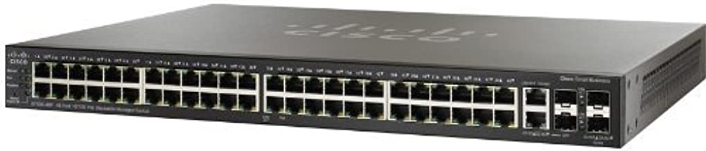 CISCO SYSTEMS SF500-48P-K9-NA 48 Port 10 100 POE Stackable Managed Switch (Certified Refurbished)