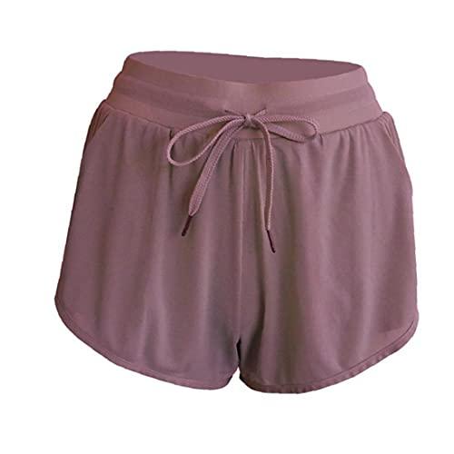 Eaarliyam Yoga Pantalones Cortos Anti Luz Deporte de Las Mujeres Pantalones Cortos de Entrenamiento de Las Polainas Pantalones Cortos para el Yoga Formación de Jogging Lavanda S