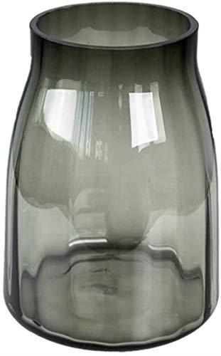 Bloemstuk Vaas, Translucent decoratieve vaas Handgemaakte glazen vaas hydrocultuur Plant Desktop Vaas in 2 maten Decor Vazen (Size : 19.4 * 19.4 * 26CM)