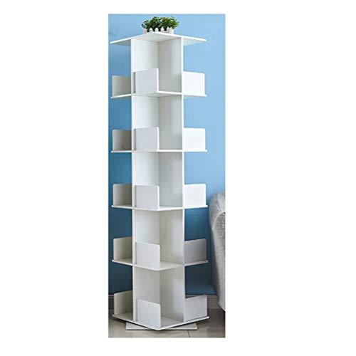 SJWR Libreria, libreria Girevole Creative Giradischi a 360 ° mensola Moderna Semplice Angolo per Bambini Angolo Tavolo da Gioco atterrato,fivefloors