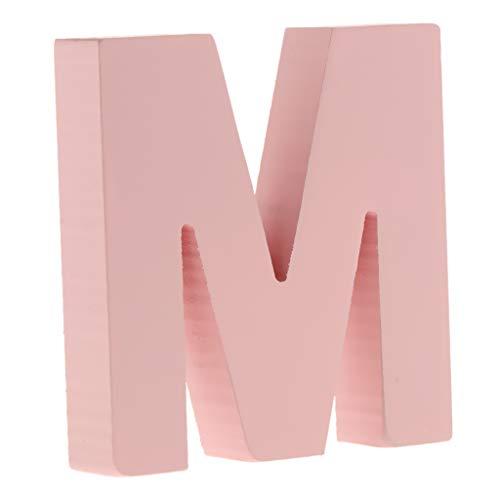 F Fityle Rosa DIY A-Z Buchstaben Alphabet Holzbuchstaben zum Aufstellen - M