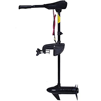 Goplus Electric Trolling Motor 46/55/86 LBS Thrust Transom Mounted Two-Blade Propeller 8 Speed with Adjustable Handle for Fishing Boats Freshwater and Saltwater Use (86LBS) from Superbuy