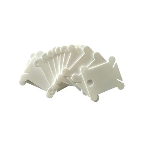 Healifty - Bobina di filo di plastica per ricamo a punto croce, organizer, artigianato, cucito, conservazione, 120 pezzi (bianco)