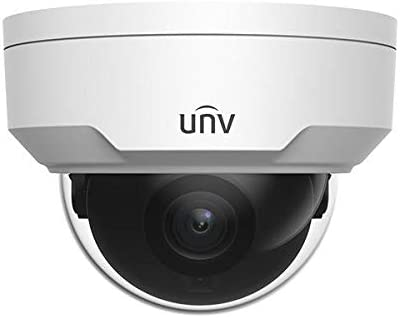 Uniview IPC324SS-DF28K IP Security Camera Dome Fixed Lens 4MP Smart IR 120dB True WDR Technology and Onvif Compatible Supports 256G Micro SD Card