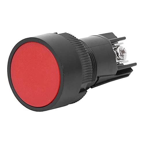 Interruptor de plástico Botón de autobloqueo Interruptor de reinicio para tornillo con arandela DIN para destornillador estándar IEC No. 2(Red EA142)