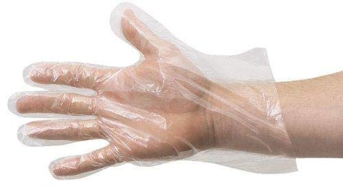 Einweghandschuhe, transparente Kunststoffhandschuhe zum Kochen, Reinigen, Sicherheitshandschuhe mit Lebensmitteln, latexfrei, Einweghandschuhe, Einweghandschuhe (500 Stück)