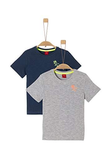 s.Oliver Junior Jungen 404.10.005.12.130.2040586 T-Shirt, 57D4 Dark Blue Placed p, 116/122/REG