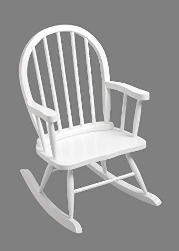GiftMark Children's Windsor Rocking Chair in White Color