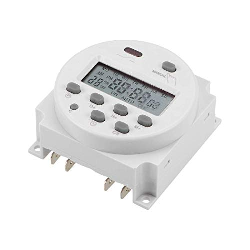 Interruptor temporizador programable digital LCD digital semanal DyniLao de 7 días DC12V CN101A