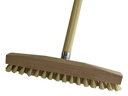 BÜMAG Bodenwischer Schrubber Holz 30cm mit Holzstiel