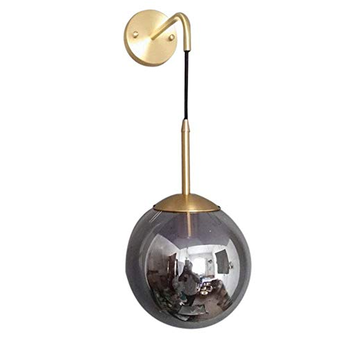 Lámpara pared bola cristal ajustable posmoderna nórdica