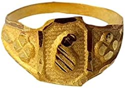 Certified Solid 22K/18K Yellow Fine Gold Leaf Design Kids Ring Size-1 Available In 22 Carat And 18 Carat Fine Gold For Gifts,Kids,Childrens,Baby Boy,Baby Girl,Infant,Celebrations & Regular Use